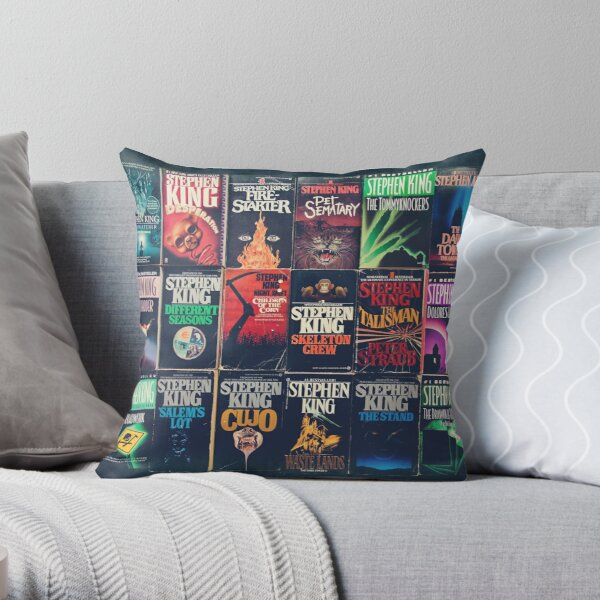 Stephen King Book Fronts Throw Pillow