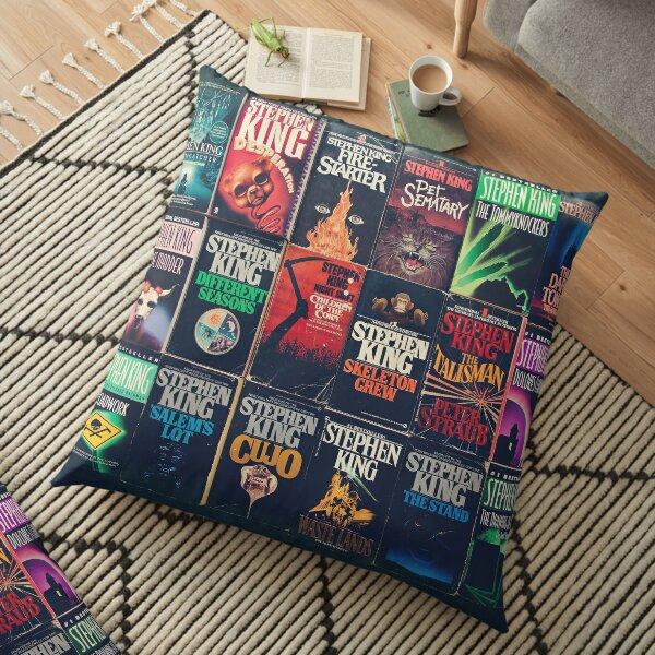 Stephen King Book Fronts Floor Pillow