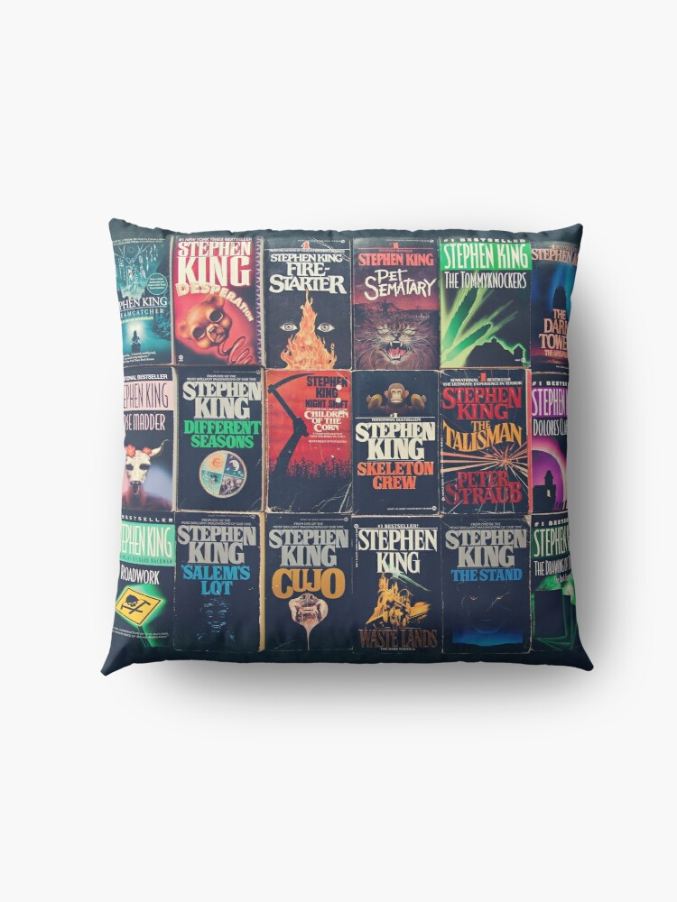 Alternate view of Stephen King Book Fronts Floor Pillow
