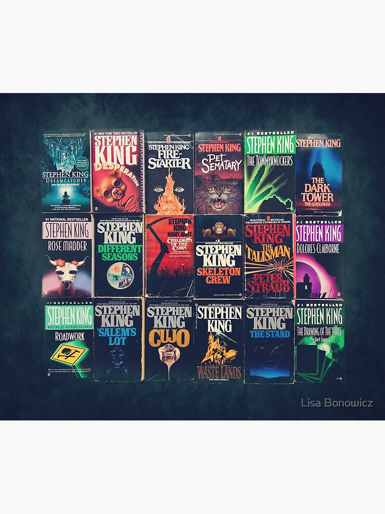 Stephen King Book Fronts by lisabonowicz