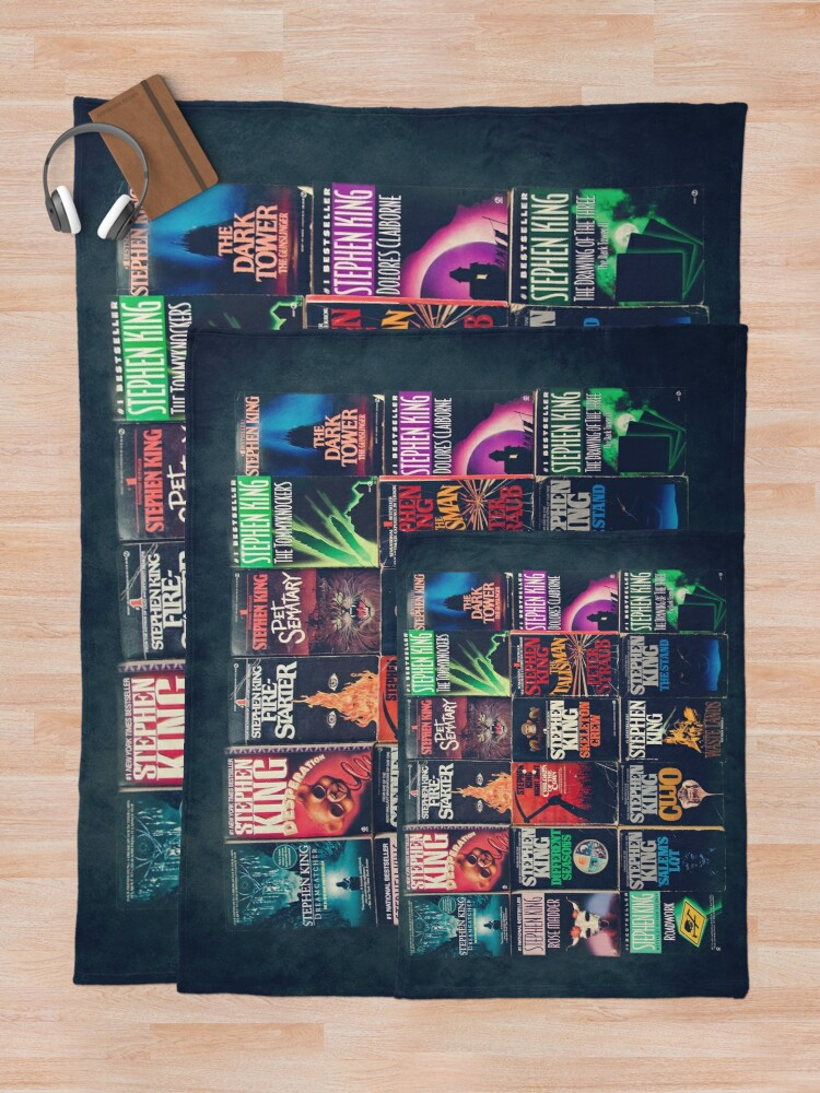 Alternate view of Stephen King Book Fronts Throw Blanket