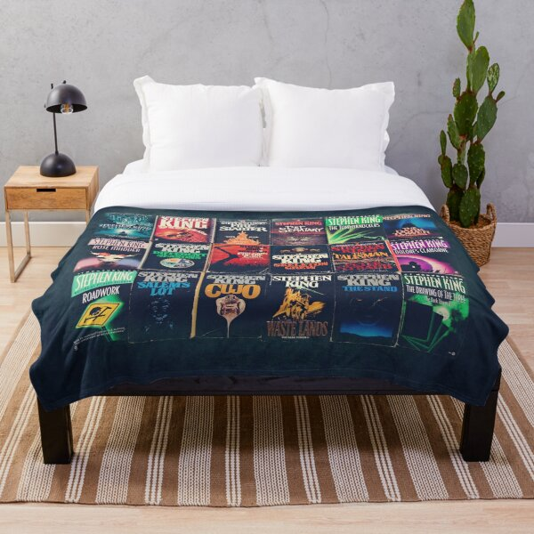 Stephen King Book Fronts Throw Blanket