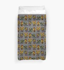 Chibi turtles Duvet Cover