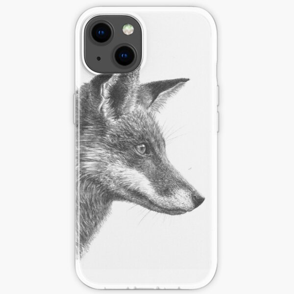 Fantastic Mr Fox - Red Fox Drawing iPhone Soft Case