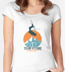 Team Fethke: Freestyle (Orange/Blue) Fitted Scoop T-Shirt