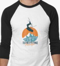 Team Fethke: Freestyle (Orange/Blue) Baseball ¾ Sleeve T-Shirt
