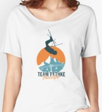 Team Fethke: Freestyle (Orange/Blue) Relaxed Fit T-Shirt