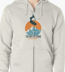 Team Fethke: Freestyle (Orange/Blue) Zipped Hoodie