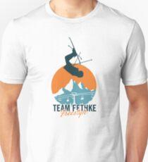 Team Fethke: Freestyle (Orange/Blue) Slim Fit T-Shirt