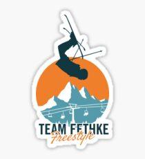 Team Fethke: Freestyle (Orange/Blue) Sticker
