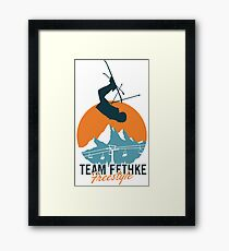 Team Fethke: Freestyle (Orange/Blue) Framed Print
