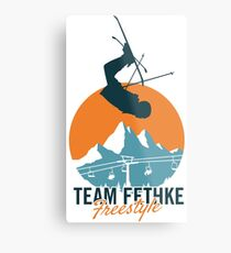 Team Fethke: Freestyle (Orange/Blue) Metal Print