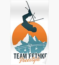 Team Fethke: Freestyle (Orange/Blue) Poster
