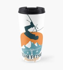 Team Fethke: Freestyle (Orange/Blue) Travel Mug