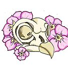 Owl Skull and Primrose by BriPi