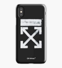 Off-White Brushed Arrows (Dark) iPhone Case