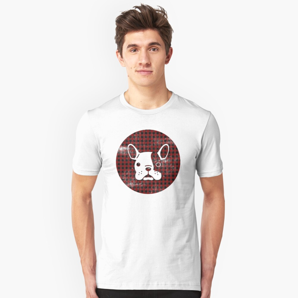 Cute Vintage French Bulldog Graphic Unisex T-Shirt Front