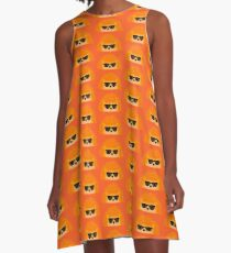 Sedgewick Rocking Orange Orbison A-Line Dress