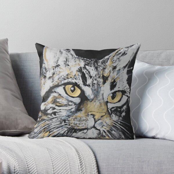 My tabby cat Rio Throw Pillow