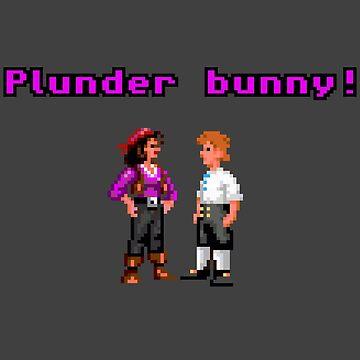 Monkey Island Plunder Bunny Retro Pixel DOS game fan item by hangman3d