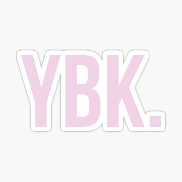 YBK Yearbook Pink Sticker