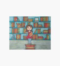 STEM Library Girl Art Board