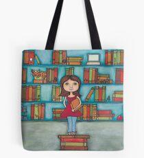 STEM Library Girl Tote Bag