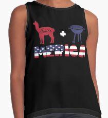 Alpaca plus Barbeque Merica American Flag Blusa sin mangas