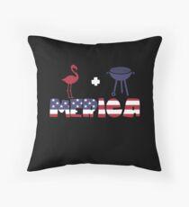 Flamingo plus Barbeque Merica American Flag Cojín de suelo