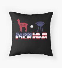 Alpaca plus Barbeque Merica American Flag Cojín