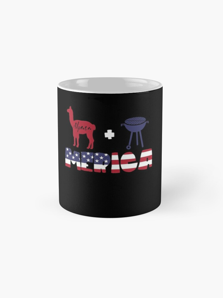 Vista alternativa de Taza Alpaca plus Barbeque Merica American Flag