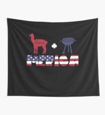 Alpaca plus Barbeque Merica American Flag Tela decorativa