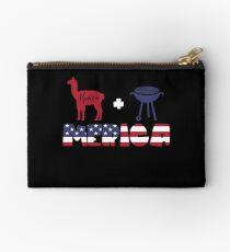 Alpaca plus Barbeque Merica American Flag Bolso de mano