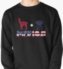 Alpaca plus Barbeque Merica American Flag Sudadera sin capucha