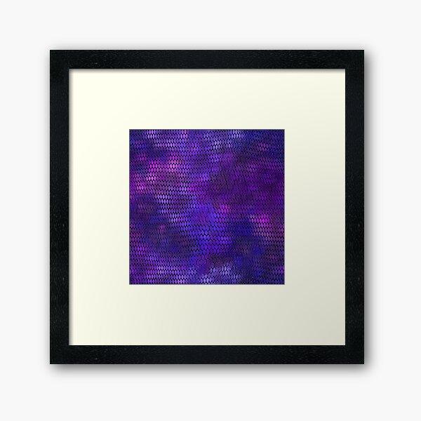 Purple Dragon Scales Framed Art Print