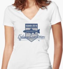 Idaho 2018 Fishing Expedition Fitted V-Neck T-Shirt