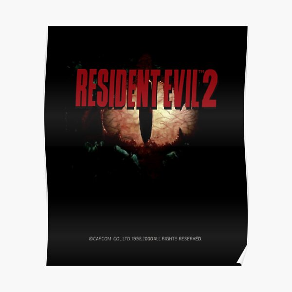 Resident Evil 2 Menu Screen Poster