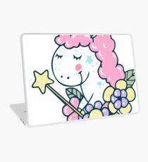 Magic white pink Unicorn cute illustration Laptop Skin