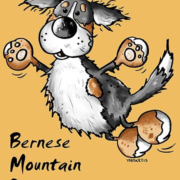 Fluffy Bernese Mountain Dog - Dogs - Funny - Pet - Gift by modartis