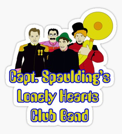 Capt. Spaulding's Lonely Hearts Club Band Sticker