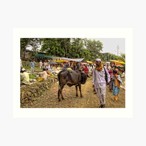 A small village market at the foothills of shayadri mountains Art Print