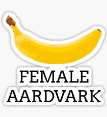 Female aardvark Sticker