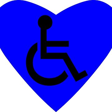 Disabled Wheelchair Symbol by sweetsixty