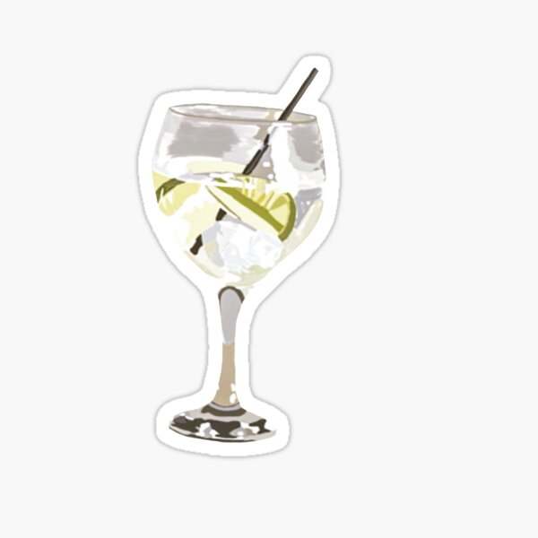 Gin glass  Sticker