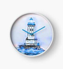 Engelstor-Leuchtturm (blau / weißes Thema) Uhr
