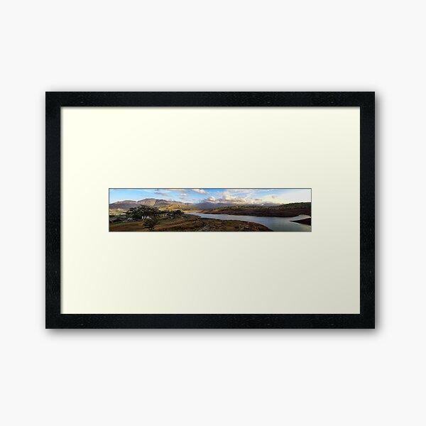 Arthur lake panorama:: Bigger and Wide screen (full view) Framed Art Print