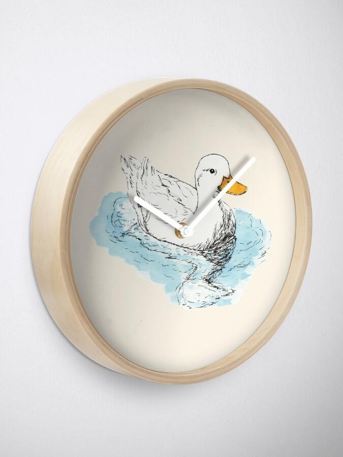 Alternate view of White Duck Clock