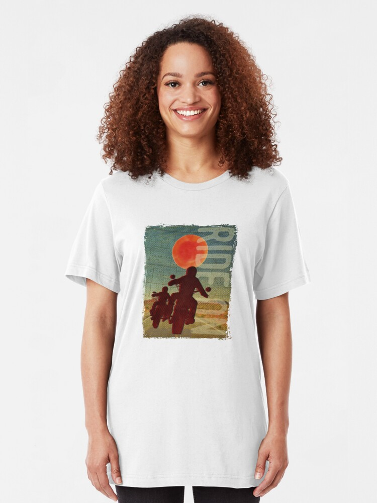 Alternate view of Bikers in the sunset Slim Fit T-Shirt