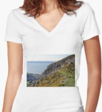 """I'll be coming 'round the mountain..."" Women's Fitted V-Neck T-Shirt"