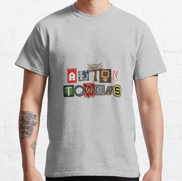 Alton Towers Collage Design Classic T-Shirt